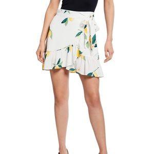Rails Etienne Lemon Print Wrap Skirt
